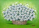 油絵 肉筆絵画 F6サイズ 「白い華」 的場 錠 木枠付 -新品