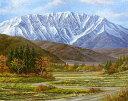 油絵 肉筆絵画 F12サイズ 「大山」 関 健造 木枠付 -新品