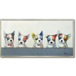 油絵 額装 肉筆絵画 オイル ペイント アート「カラフル ウェルプ」OP-22026-新品