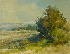 油絵 肉筆絵画 F6号(絵寸410X318mm) ロンバルド作 「丘1」 木枠付-新品