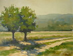 油絵 肉筆絵画 F6号(絵寸410X318mm) ロンバルド作 「木陰2」 木枠付-新品