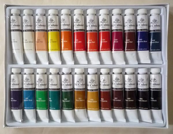 画材 油絵の具 12ml×24色 特価品