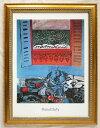 アートポスター デュフィ作 「窓辺の静物」 額装品 50X70cm 401G-新品