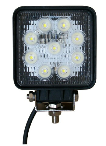 LED作業灯 27W 防水 LED投光器 作業灯 LED 集魚灯 12v/24v パックランプ 船舶 トラック 各種作業車対応 防水省エネ 1年の安心保証