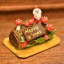 ミニチュアフード クリスマスケーキ ブッシュドノエル [YL...