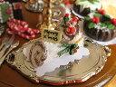 ミニチュアフード ホールケーキ ホワイトクリスマスのブッシュ...