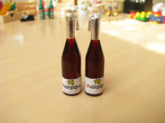 Miniature gadgets Burgundy style wine set of 2