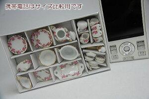 ミニチュア陶器フルディナー&ティーシリーズ満開桜