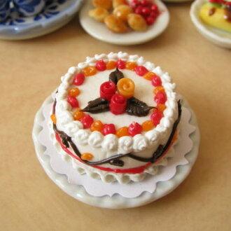 Miniature food cake elegant rose 25 mm