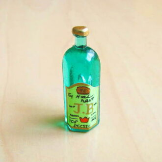 Miniature gadgets green whiskey bottle hexagonal [restock]