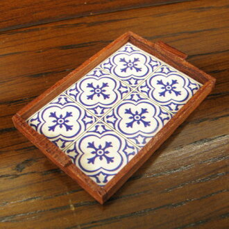Miniature miscellaneous goods wooden serving tray [MWDM121][m-s]●
