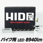 55W HIDよりも明るい LED ヘッドライト 8940lm バイク用 1灯  H4Hi/Lo / H7 / H8 / H11 爆光 6500k 車検対応 HID屋 点灯当時の明るい状態を維持