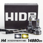 LED ヘッドライト ホワイト 6500K 14880LM | LED フォグランプ イエロー 3000K 10000LM H4 Hi/Lo H11/H8/H16,HB3/H10/HB4/HIR2/,H1,H7,H3/H3C 爆光 省エネ 車検対応 日本製LEDチップ搭載 Gシリーズ