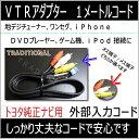 トヨタ純正ナビ 入力 VTRアダプター 1Mコードアルファー...