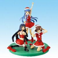 かんなぎ 組立式クリスマスフィギュア サンタ コスプレ ミニスカート バンプレスト(全3種フルセット)【即納】【05P03Dec16】画像