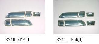 ハイエース200系 キーホールレス ドアノブカバー 5DR/メッキ調