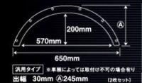 ABS製軽自動車用超軽量汎用オーバーフェンダー(出幅30mm)