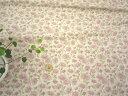 【リネン、ダブルガーゼ生地 】YUWA綿麻ダブルガーゼ 花柄 ナチュラル地 185Y1a