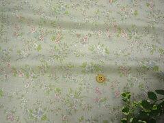 【特価】 綿ローン布地 Ann-Lee さわやか花柄 グレー 179E1d