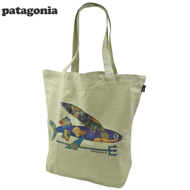 男女兼用バッグ, トートバッグ  Patagonia Isle Wild Flying Fish Canvas Bag Honolulu
