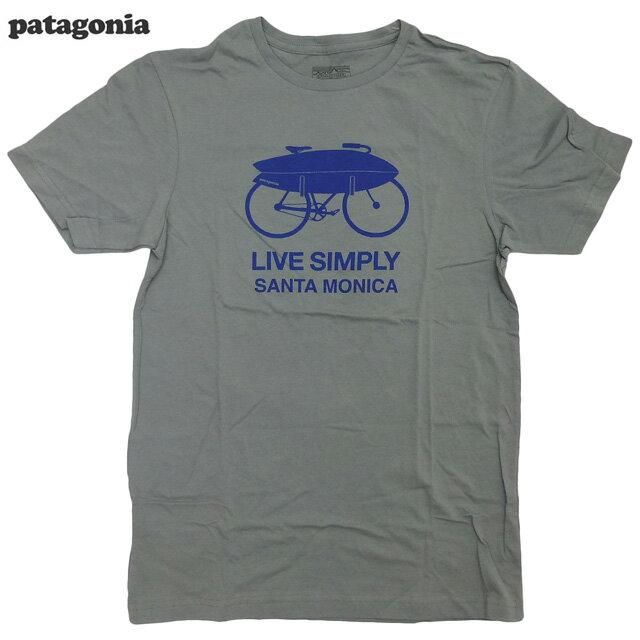 トップス, Tシャツ・カットソー Patagonia Santa Monica Live Simply Surf Bike T