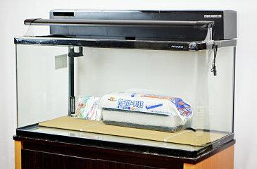 【送料無料】 ニッソー 90cm曲げガラス水槽 熱帯魚飼育11点セット LED仕様 【北海道・沖縄・離島、別途送料】