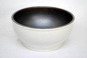 信楽焼めだか鉢 ホワイト/ブラウン 【熱帯魚・アクアリウム/鉢】