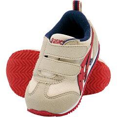 アシックス【ASICS】すくすく(スクスク・SUKUSUKU) 子供靴(スニーカー) ベビーシューズ アイダホBABYII 0526:ベージュ×エンジ(tub144-0526) 【楽ギフ_包装】
