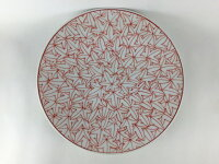 【波佐見焼 洸琳窯】185平皿.赤紅葉詰