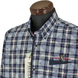 パジェロ■2020春夏■ボタンダウンシャツ(紺系)日本製