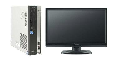 Windows10 Pro 64BIT/富士通 FMV-D5290/Core2 Duo 2.66GHz/4GB/1TB/DVD/無線LAN/Office付/20型液晶付 中古パソコン デスクトップ