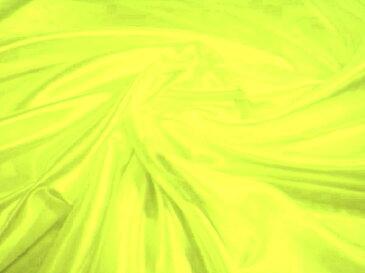 サテン無地 ポリエステル100% 蛍光黄色【メール便4m可】 生地 布 ピカピカ 応援 運動会 舞台衣装 発表会 コスチューム コスプレ 装飾 ソーイング ハンドメイド 手作り 手芸 通販 安い  激安 クリスマス ハロウィン インテリア 幼稚園 お遊戯会 劇 保育園 学校