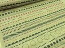 nina LUONTルオント 北欧風パターンボーダー キナリ(つぶ入り) スケア生地【メール便3m可】 北欧風 生地 布地 コットン エプロン ワンピース スカート スモック 1