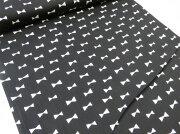シルエット ブラック オックス コットン エプロン ワンピース スカート インテリア クラフト ソーイング