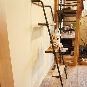 アイアン壁掛けシェルフ、ラダー(階段型)ナチュラルアンティークスタイル