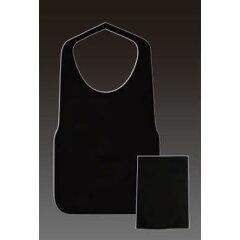 使い捨てエプロンフジ不織布エプロン F型中(黒) 8ツ折 390×720mm(25枚入)
