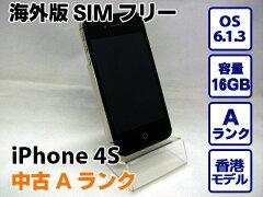 海外版SIMフリー 中古Aランク【海外版SIMフリー】APPLE アップル iPhone 4S 16GB BLACK ブラッ...
