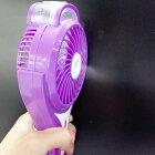 【ミニ扇風機】【カラー:パープル(紫)】ハンディミストファンLILENG-853ミストとファンで瞬間冷却、繰り返し充電できる内蔵バッテリーだから乾電池要らず!