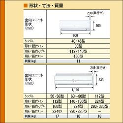RPK-GP56RSHJ日立業務用エアコンかべかけ2.3馬力シングル省エネの達人標準省エネ単相200Vワイヤレスリモコン