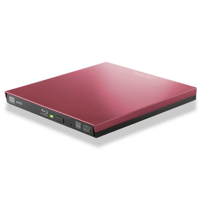 Blu-rayディスクドライブ / USB3.0 / スリム / 再生&編集ソフト付 / typeCコネクタ付 / レッド Blu-rayドライブ エレコム ELECOM LBD-PVA6UCVRD