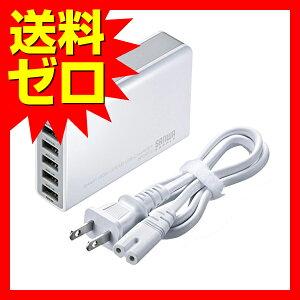 サンワサプライ 6ポートUSB充電器 ☆ACA-IP40W★ 【あす楽】【送料無料】|1302…