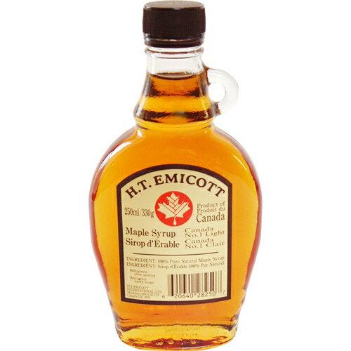 H.T.エミコット メープルシロップ NO.1ライト 250ml エミコット メープルシロップ  ※商品は1点(個)の価格になります。
