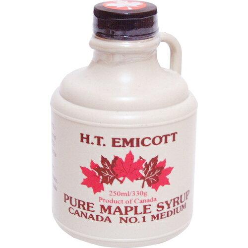 H.T.エミコット メープルシロップ NO.1ミディアム 250ml エミコット メープルシロップ  ※商品は1点(個)の価格になります。