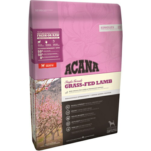 アカナ グラスフェッドラム 6kg (正規輸入品) アカナ 低アレルギー食  ※商品は1点(個)の価格になります。