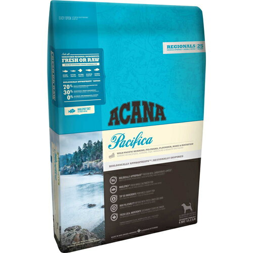 アカナ パシフィカドッグ 6kg (正規輸入品) アカナ オメガ3・6・皮毛予防食  ※商品は1点(個)の価格になります。