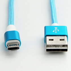 マイクロUSBケーブル1musbケーブル充電ケーブルスマホAndroid3色リバーシブル両面挿し急速充電対応最大2.4A高耐久MicroUSBケーブル高速データ転送スマートフォンUSB(A)-USB(Micro-B)100cmピンクブルーグレイ【送料無料】|1402ULZM^UL.YN