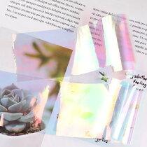 LALONA[ラローナ]オーロラフィルム(5色セット)ジェルネイル/ネイルアート/プラチナホログラム/ランダムカットオーロラフィルム/ホログラム