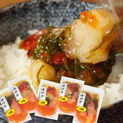 日経新聞なんでもランキング2位!川秀のぶっかけ海鮮丼の具(100g×5袋)