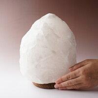 岩塩ランプ!100%天然『ヒマラヤ岩塩ランプ』[カラー:ホワイト][大きさ:5-7kg]【岩塩ランプ】【ヒマラヤ岩塩ランプ】【岩塩】【ランプ】【ソルトランプ】【照明】【インテリア】【ピンク】