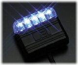 DEI 629Lコンパクトなのにスゴく光る【青LEDスキャナー】夜間のアピールは抜群ダミーとして使用可能【防犯ならバイパー】